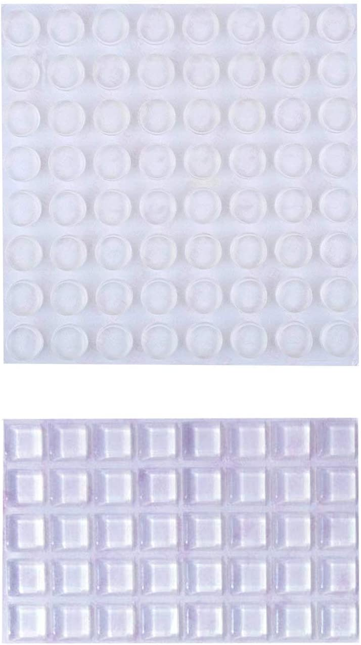 """1/2"""" Clear Rubber Feet Bumper Pads Self-Adhesive Buffer Pads Cabinet Door Bumpers Noise Dampening Pads Drawer Stops 104 Pcs"""