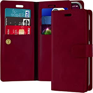 Goospery Mansoor Wallet for Apple iPhone 11 Pro Max Case (6.5 inches) Double Sided Card Holder Flip Cover (Wine) IP11PM-MAN-WNE