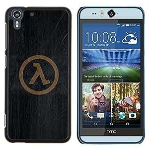 Stuss Case / Funda Carcasa protectora - Símbolo Half Life - HTC Desire Eye M910x