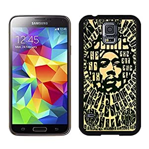 New Unique DIY Antiskid Skin Case For Samsung S5 Jimi Hendrix 4 Samsung Galaxy S5 Black Phone Case 206