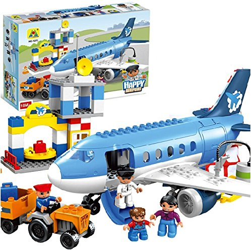 Toys BhoomiHappy City Airport Block Building Set – 69 Pieces