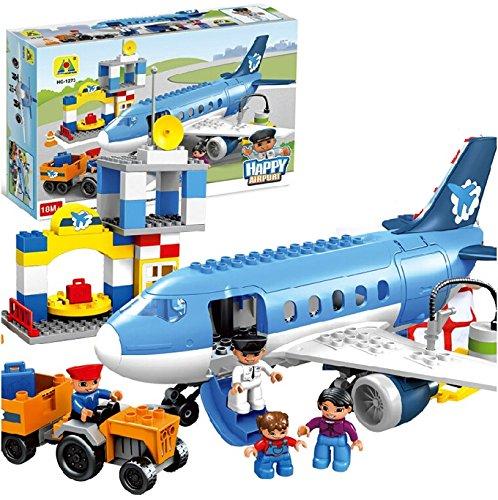 Toys Bhoomi Happy City Airport Block Building Pieces  Multicolour    Set of 69