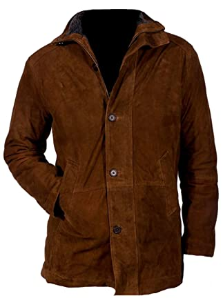 06e1bad66d644 TFJ Leather Longmire Walt Mysteries Robert Sheriff Brown Suede Leather  Jacket (X-Small)