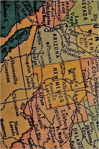 Southwestern United States Map Journal: Take Notes, Write Down ...