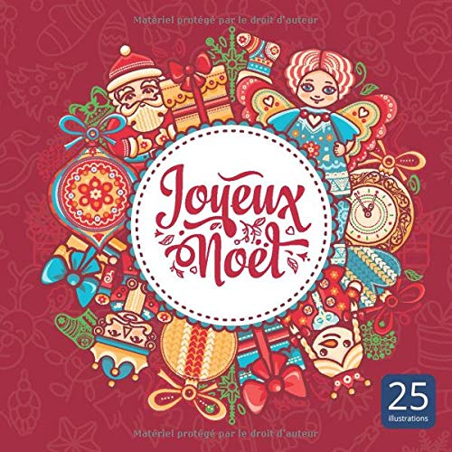 Amazon.com: Joyeux Noël: Livre à colorier pour adultes, pages d