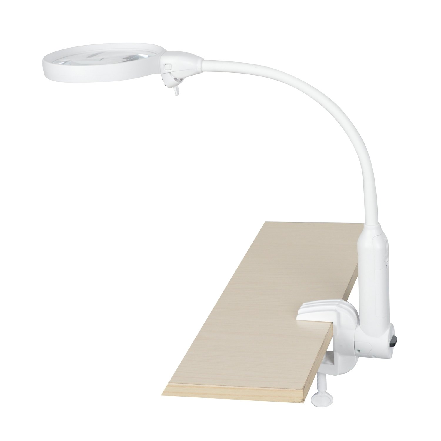 Yoctosun 2x 5x Led Magnifying Lamp 2 In 1 Clip On With Clamp Bracket Multifunctional Desktop Magnifier Circuit Glass 6 Bright Lights And Flexible Gooseneck
