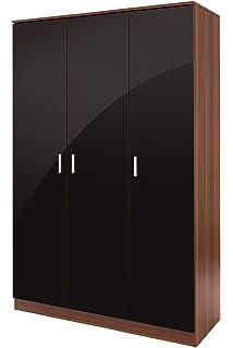 Caspian Gloss Shiny Bedroom Furniture 2 Door Wardrobe ...