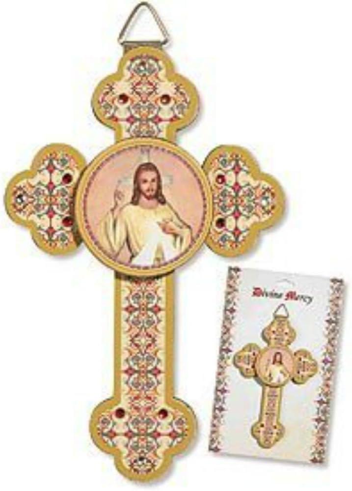 Divine Mercy Jesus 3d Wall Crucifix