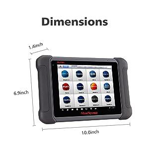 The Autel Maxisys MS906 is a automotive diagnostic OBD2 scanner that has an ergonomic design