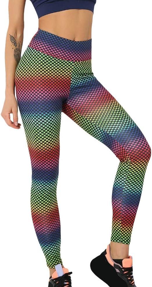 iCJJL Women Girls High Waist Tummy Control Leggings Solid Stretchy Running Workout Yoga Pants Active Wear