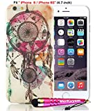 ipod 3d wheel covers - iPhone 6S Case, iPhone 6 Case Protector, MerKuyom(TM) Package-[Retro Flower Wheel Print] [Ultra Thin] [Flexible Gel] Soft Gel TPU Case Skin Cover For Apple iPhone 6S / iPhone 6 [4.7-inch],W/ Stylus