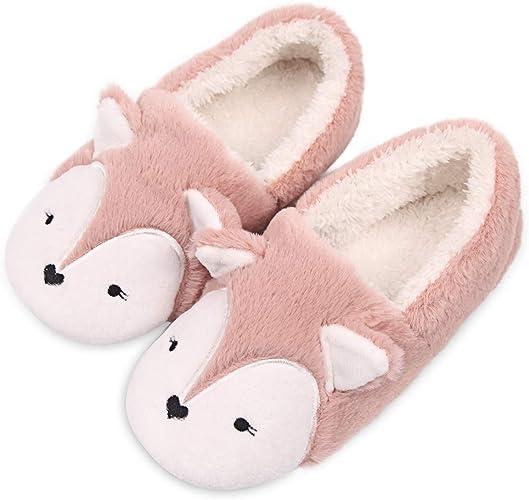 Slippers Womens Warm Indoor Slipper Boots Ladies Booties Size 3 4 5 6 7 8 Pink