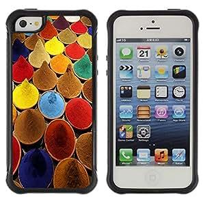 """Pulsar iFace Series Tpu silicona Carcasa Funda Case para Apple iPhone SE / iPhone 5 / iPhone 5S , Especias India cocina colores de pintura Mercado"""""""