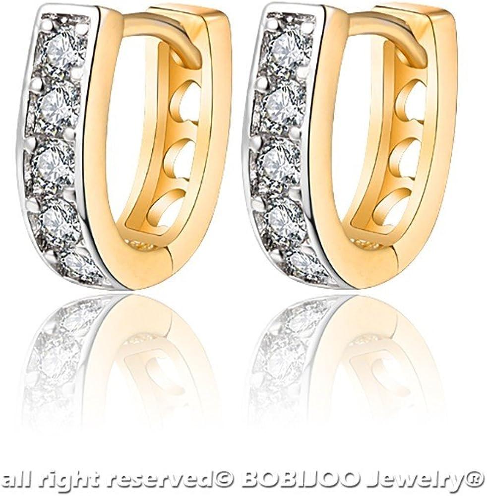 Boucles dOreilles Enfant B/éb/é Fille Dor/é Or Fin Anneau Cr/éole Naissance Bapt/ême BOBIJOO Jewelry