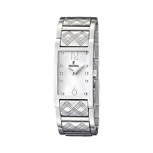 3769059114f3 Festina F16556 1 - Reloj analógico de Cuarzo para Mujer con Correa de Acero  Inoxidable