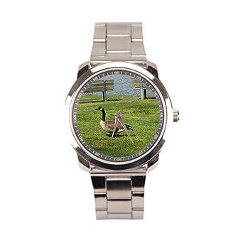 anglecity Canadá Ganso acero inoxidable reloj de pulsera ...