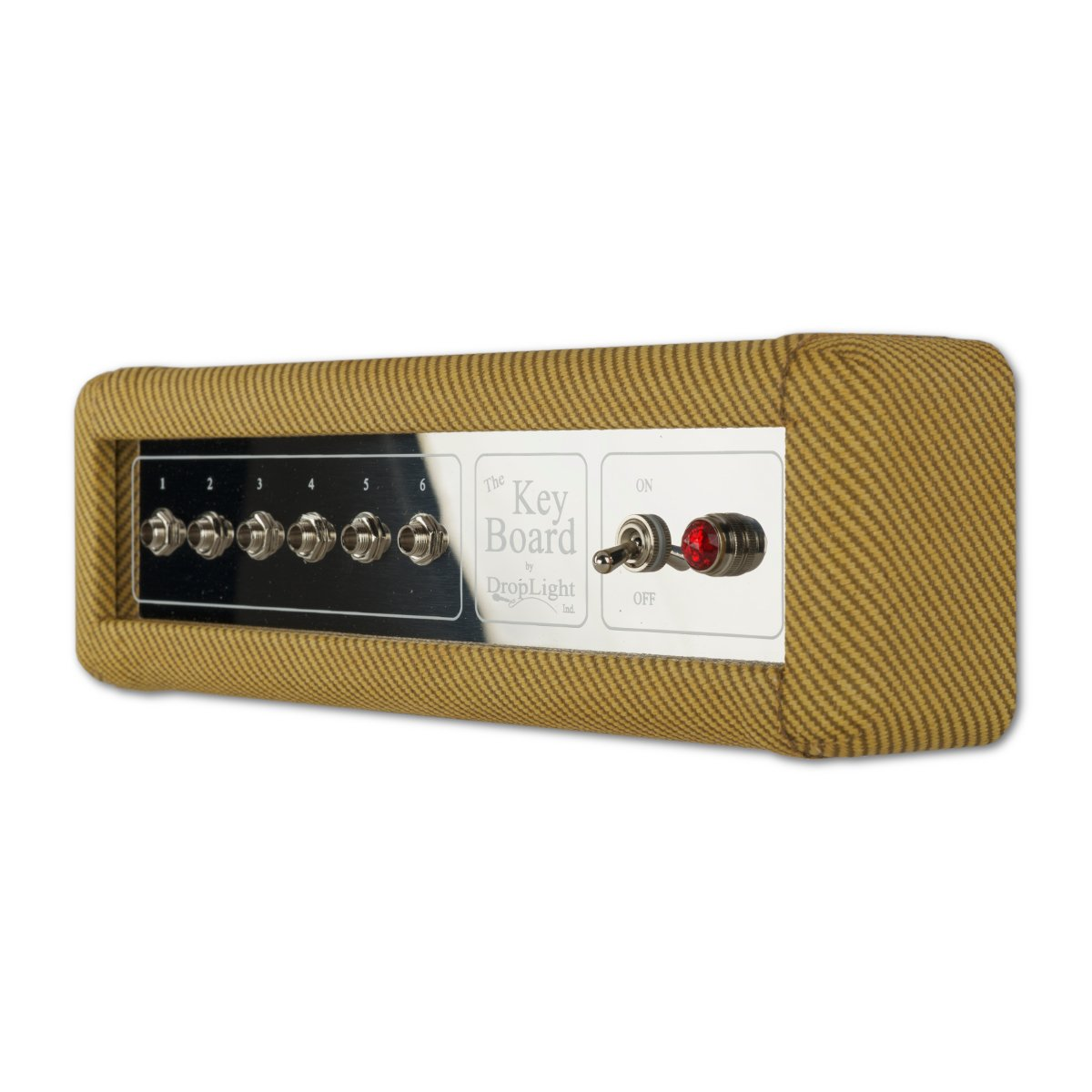 Guitar Amp Wall Key Holder with 6 Keychains. The Key Board by DropLight Ind. Amp Inspired. American Made. (Tweed)
