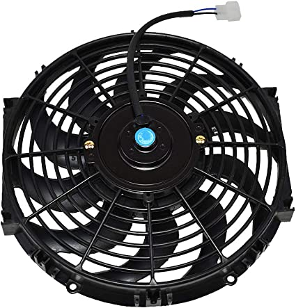 A-Team Performance 140041 16 Heavy Duty 12V Radiator Electric Wide Curved S Blade FAN /& Thermostat Kit 3000 CFM Reversible Push or Pull with Mounting Kit
