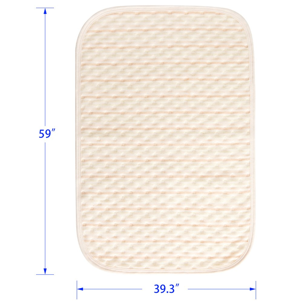Incontinence Mattress Protector Seniors Waterproof Bed Pad The Aged Elderly Absorbent Underpads Golden Years Bed-Wetting Enuresis Spill Mat Natural Organic Cotton Washable Reusable(Color, XXXL) by LiBuy (Image #2)