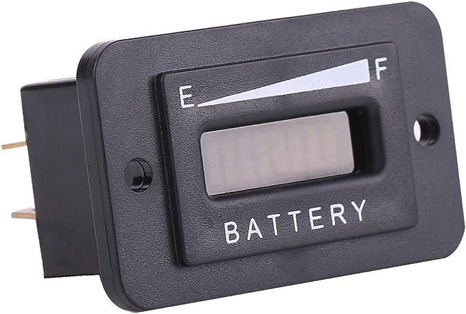 Led Batterieanzeige 12 V 24 V 36 V 48 V Led Digital Batterieanzeige Messgerät Mit Betriebsstundenzähler 12v 24v Auto