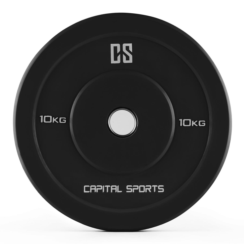CapitalSports Bumpee 1.25 Bumper Plate Par Discos de Pesas 1.25kg (2X Placa de Peso, Goma Dura Resistente, Poco Retroceso, Abertura 50,4 mm, Anillo ...