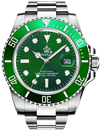 Gosasa 2016 New Fashion Quartz Watch Men Stainless Steel Dress Watch with Green Dial Water Proof