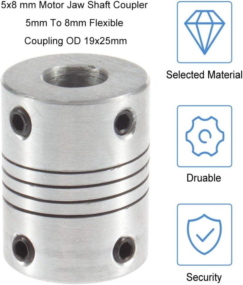 25 mm Couplage darbre flexible Coupleur darbre; Argent Candybobo 8 mm Imprimante 3D chaude Moteur pas /à pas Couplage flexible Coupleurs//accouplements darbres 5 mm