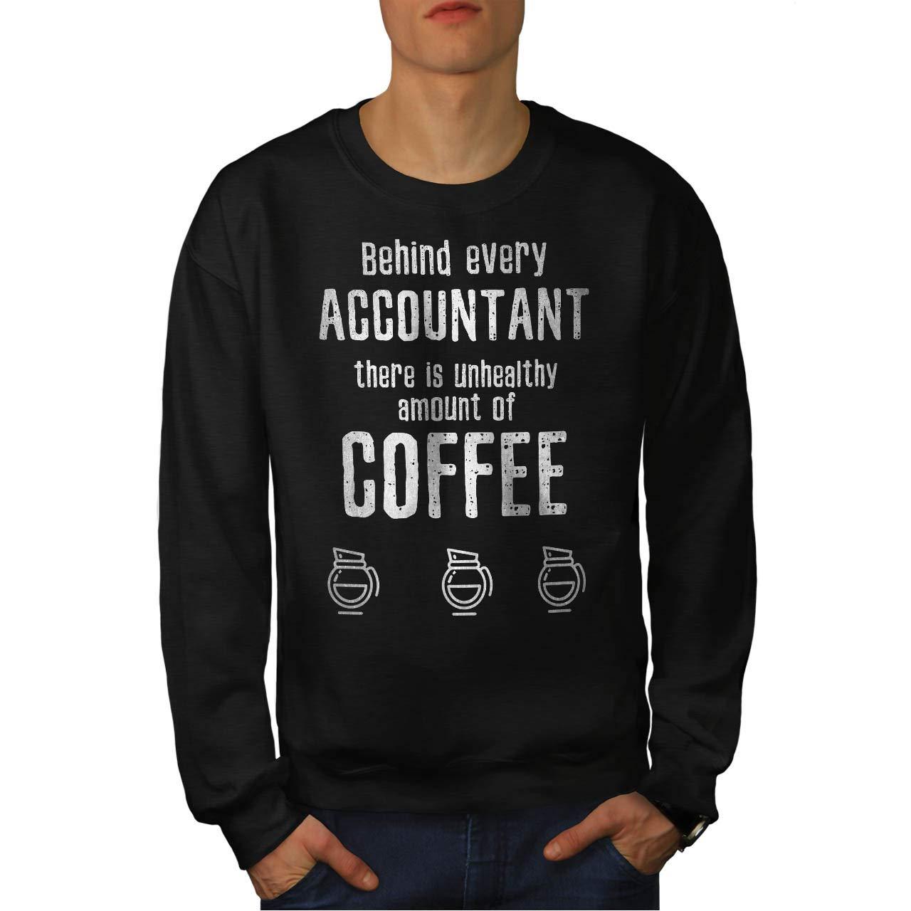 Job Funny Casual Jumper wellcoda Accountant Coffe Mens Sweatshirt