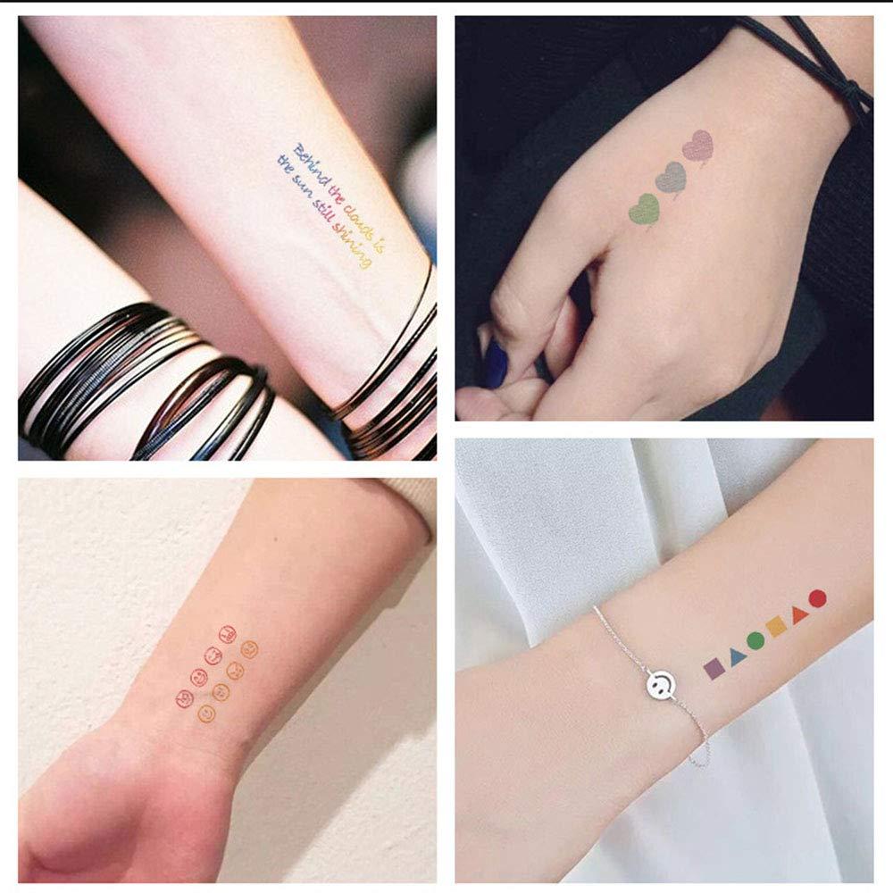 Tatuajes temporales mezclados, 250 diseños con arcoíris besando ...