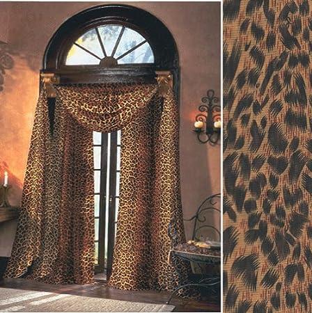 1f0b4be65f0 Leopard Sheer Curtains