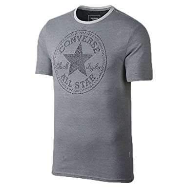 quite nice 077c0 64526 Converse Jacquard All Star Chuck Taylor Men s Short Sleeve T-Shirt Grey  Black 10003421