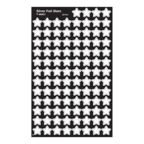 - Trend Enterprises Silver Foil Stars Super Shapes Stickers (400 Piece)