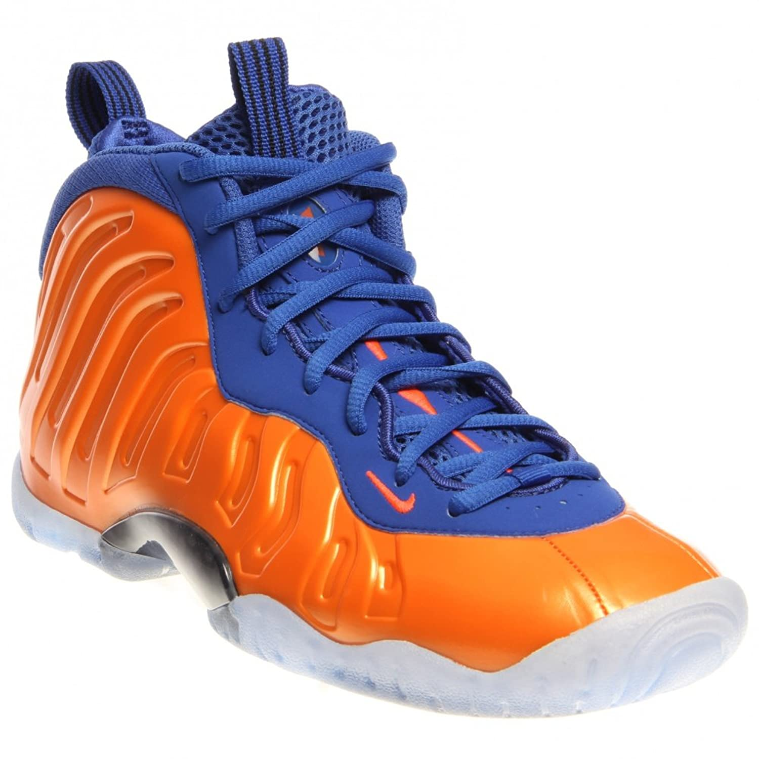 Amazon.com | Nike Little Posite One (GS) 644791-800 Total Crimson/Game Royal /Black Kids Shoes (6.5y) | Basketball