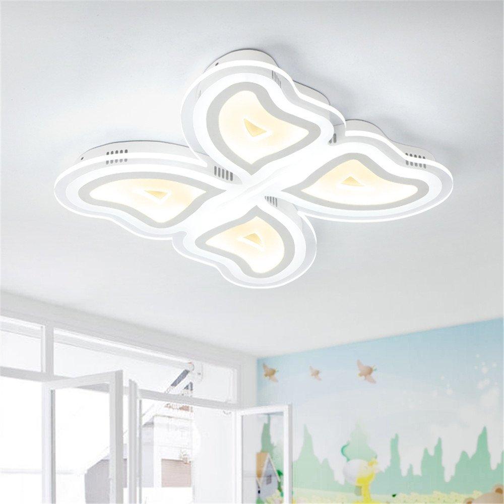 Leihongthebox Ceiling Lights lamp Girls butterfly ceiling ultra-thin light led children Ceiling lamp, --- 530mm,530mm
