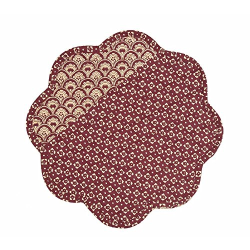 Home Collection by Raghu Abbington Barn Red & Sand Round Pla