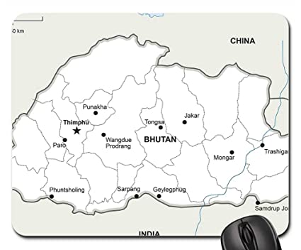 Amazon.com : Mouse Pads - Political Map Bhutan Geography Country ...