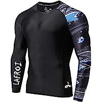 Lafroi - Camiseta térmica de licra, de compresión, para hombre, de manga larga, con protección UPF 50+, ajustada, modelo…