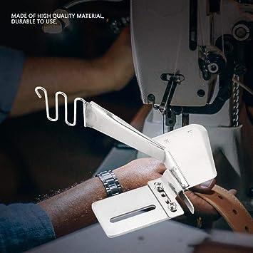 Máquina de coser industrial Fijación del pie Carpeta de hierro Doblez doble Cinta lisa Carpeta de encuadernación Accesorio: Amazon.es: Hogar