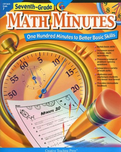 Seventh Grade Math Minutes  One Hundred Minutes To Better Basic Skills