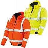 Texxor 4119 - Chaqueta de trabajo impermeable, cortaviento trabajo naranja xl