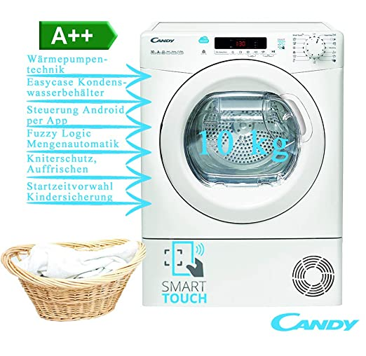 Calorecarico H10a2de Asciugatrice Candy 10kg Cs Pompa Di Frontale ABianco A S SMLqVpzGU