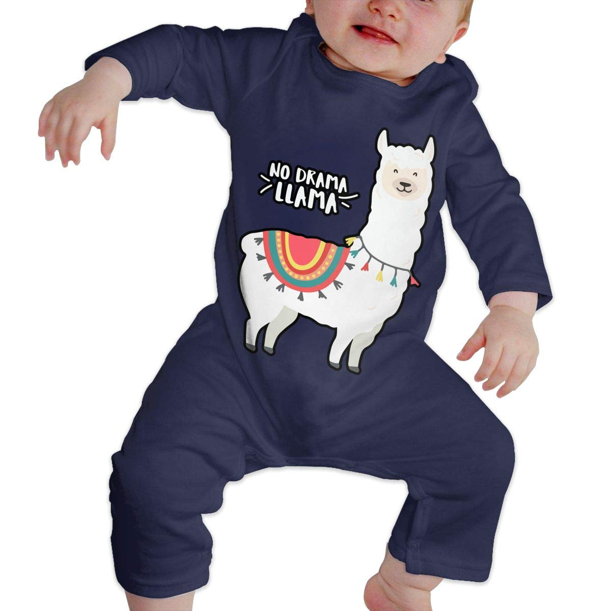 Llama Toddler Jumpsuit Baby Girls Long Sleeved Coveralls No Prob