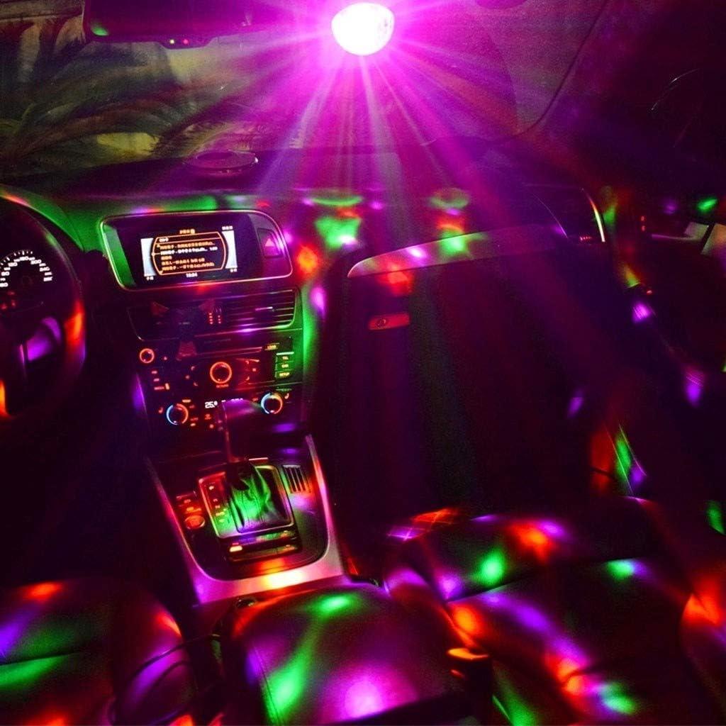 USB Magic Ball Light 5V Mini Car Sound Control DJ Light Christmas Halloween Atmosphere Decorative Light TWQtwq Disco Lights