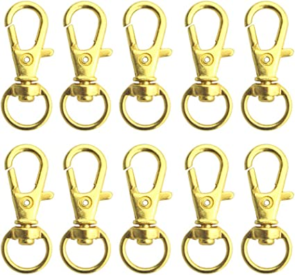 4 colors swivel clasps Gold swivel snap hook metal key ring key chain,lobster clasp spring hook Trigger Clasp Clips