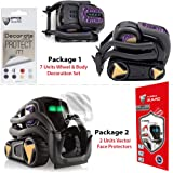 IPG Vector Robot Face Screen Guard Decoration KIT Excellent Protector from Unexpected Attacks Kids Pets. Include Wheels & Body Decoration Set 7 Units Decorative Decals+2 Units Screen Pr(Purple & Gold)