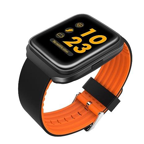 FLy Pulsera Reloj Inteligente Presión Arterial Oxígeno Medidor De Frecuencia Cardíaca Paso Llamada Recordatorio Monitor De