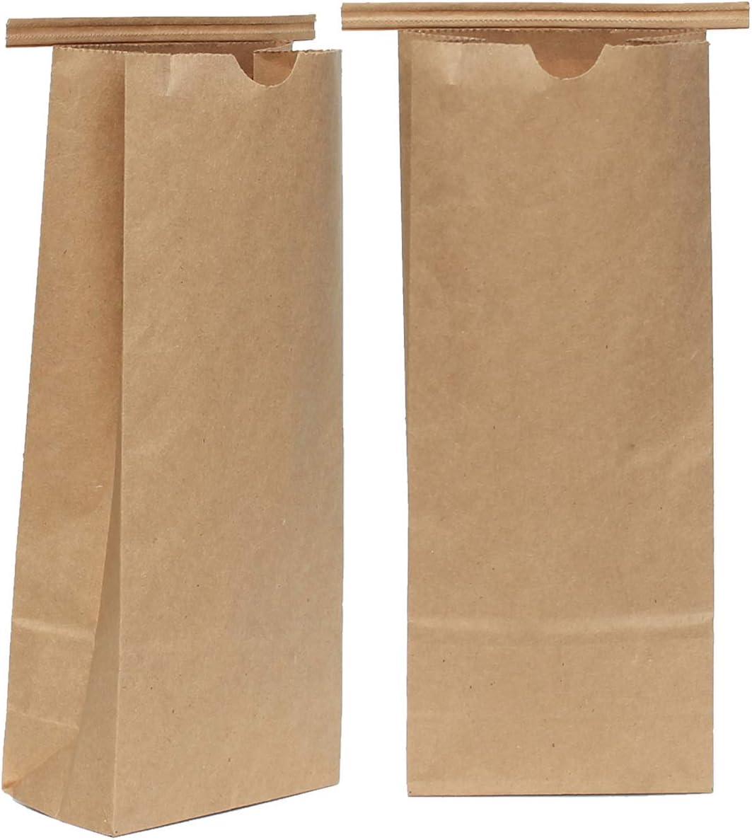 AwePackage Bolsa de Corbata de Papel Kraft compostable de 1 LB (16 ...