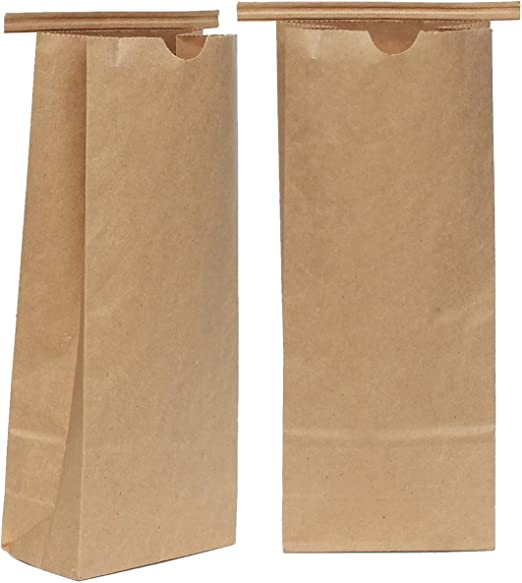 AwePackage Bolsa de Corbata de Papel Kraft compostable de 1 LB (16 ...