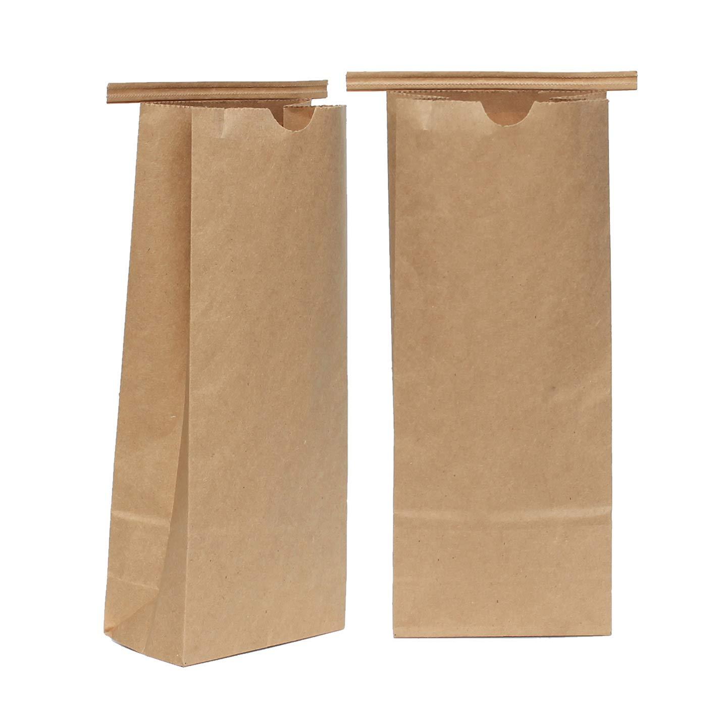 AwePackage 1 lbs(16 oz) Compostable Kraft Paper Tin Tie Bag (100)