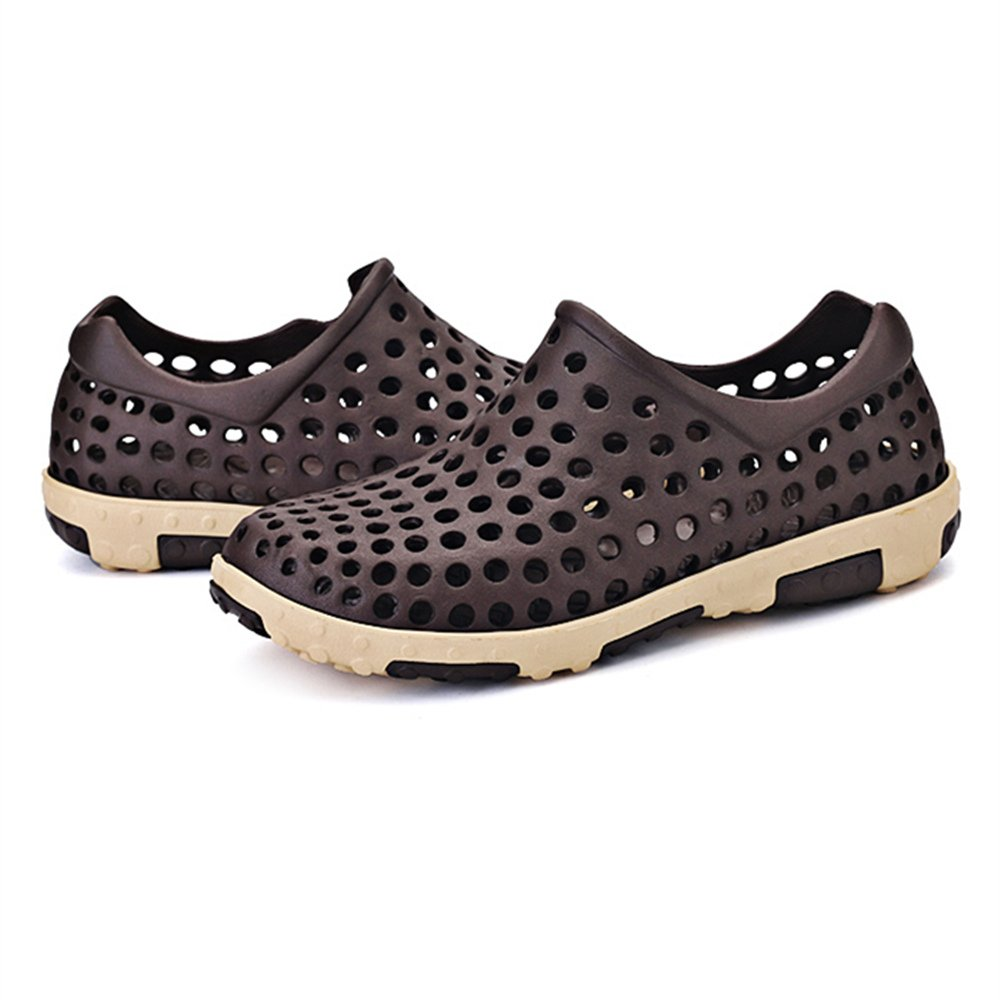Breathable Hollow Casual PVC Beach Shoes - Brown (Size 43)